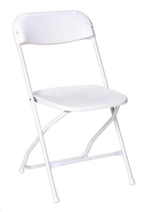 Where to rent CHAIR FOLDING WHITE in Charleston West Virginia, Summit KY, Ashland KY, Huntington WV, and Portsmouth OH