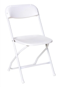 Rental store for CHAIR FOLDING WHITE in Huntington WV