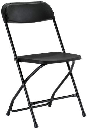 Where to rent CHAIR FOLDING BLACK in Charleston West Virginia, Summit KY, Ashland KY, Huntington WV, and Portsmouth OH
