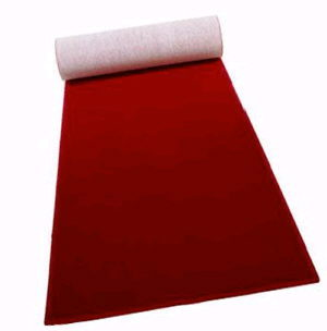 Where to find CARPET RUNNER RED 50-ft x 48 in Huntington