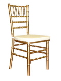 Rental store for CHAIRS CHIAVARI GOLD ALUM in Huntington WV